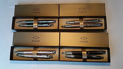 Parker IM Fountain Pen & matching Ball Pen sets various finishes