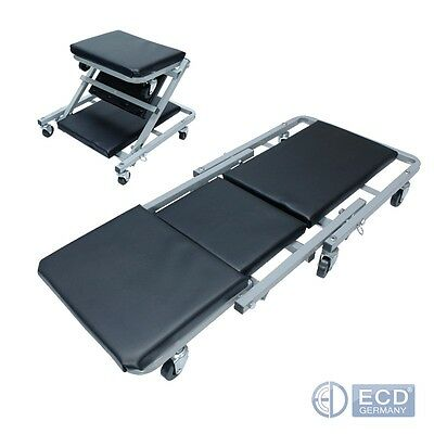 Workshop Roll Board And Seat Stool Mechanics Steel Lounger Car Mounting Deck