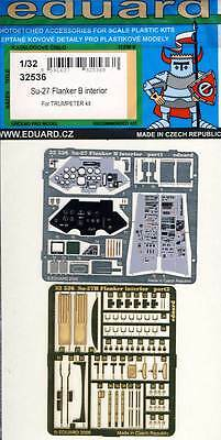 eduard Su-27 Flanker B interior cockpit Instruments Etched parts 1:32 Trumpeter