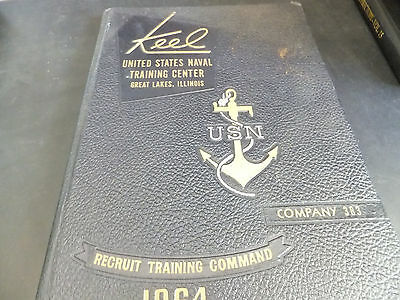 US Naval Training Center - Great Lakes, IL - Company 383 Oct 20 1964 Yearbook