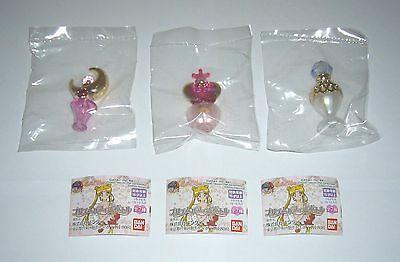 Bandai Gashapon Sailor Moon Prism Power Water Perfume Bottle New Ver. Set of 3
