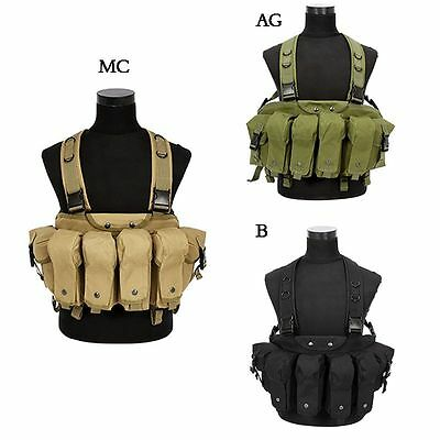 Tactical Military Camouflage Tactical Vest Airsoft Chest Rig Carrier Combat