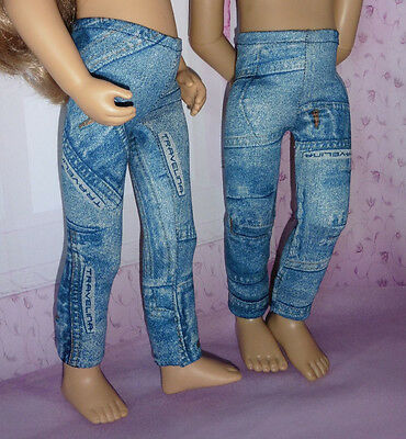 PIXIES HAND MADE JEGGINGS; fits 16-18 inch dolls Like Finouche/Kids N cats etc.