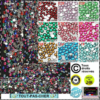 150 Strass Multicolore Cristal  3D Perles Décorations Ongles Nail Art Manucure