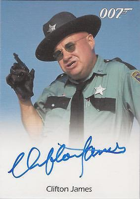 "James Bond 50th Anniversary - Clifton James ""Sheriff J W Pepper"" Autograph Card"