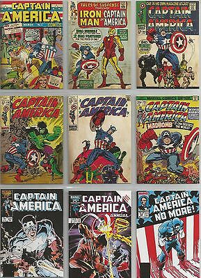 """Captain America Movie - """"Comic Covers"""" Set of 13 Chase Cards #C1-13"""