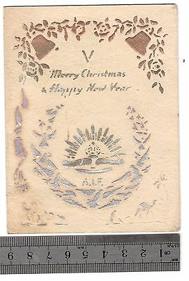 WW1 ANZAC First Australian Imperial Force AIF Christmas greetings card palestine