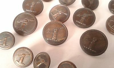ANTIQUE McCULLOCH CLAN LIVERY BUTTONS BY DOUGHTY & Co. SCOTTISH LIVERY BUTTONS