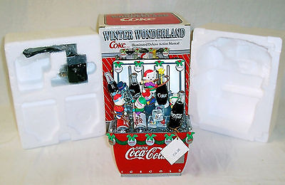 Coca Cola Winter Wonderland Illuminated Deluxe Action Musical - Light - Animated