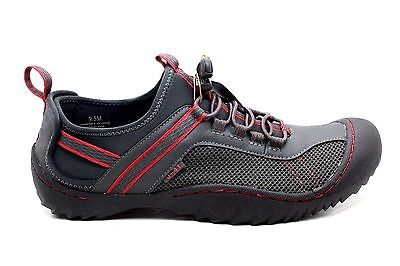 J-41 J41 Mens Vancouver II Boating Water Shoe Warm Grey Red Size 9.5