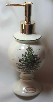 Spode Christmas Tree SOAP or LOTION DISPENSER, NEW with UPC sticker