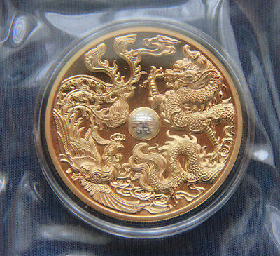 2015 China Dragon Phoenix Three Material Medal with BOX and COA NanJing Mint