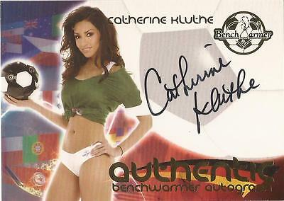"""Benchwarmer 2006 World Cup -  #2 of 30 """"Catherine Kluthe"""" Auto / Autograph Card"""