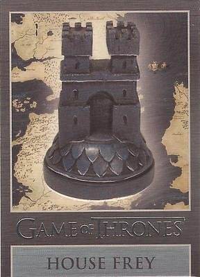 "Game of Thrones Season 3 - ""Frey"" Embossed Map Marker Sigil Chase Card MM2"