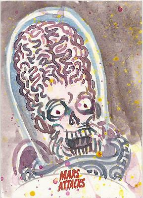 Mars Attacks Invasion - Jason Atomic Sketch Card