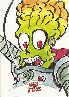 Mars Attacks Invasion - Jason Chalker Sketch Card