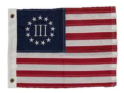 12x18 Nyberg III 3 Percent Flag Embroidered Motorcycle Boat Betsy Ross American