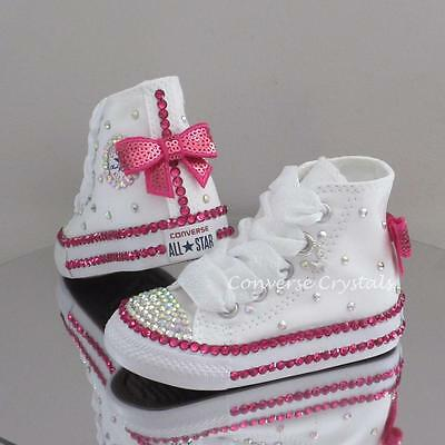 Girls Custom Crystal *Bling* Converse Infant Sizes 2-6. Other Colours available