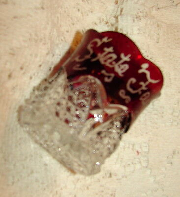 RUBY RED Toothpick Holder ILLINOIS STATE FAIR 1931