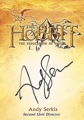 "The Hobbit Desolation of Smaug - CA-4 Andy Serkis ""Director"" Autograph Card"