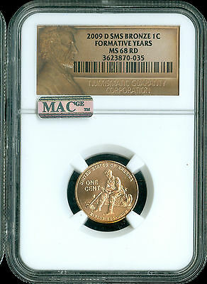 2009-D Lincoln Cent Formative Years Ngc Mac Ms68 Rd Sms Pq Spotless .