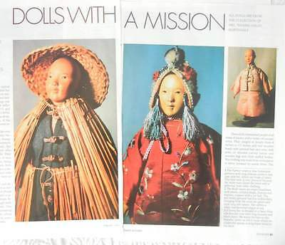 4p History Article & Pics - VTG Door of Hope Chinese Dolls