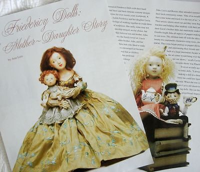 11p Histroy  Article & Pictorial - The Dolls of Judith & Lucia Friedericy