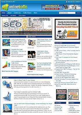 ESTABLISHED Online Traffic Turnkey Website Business For Sale + Free Domain+BONUS