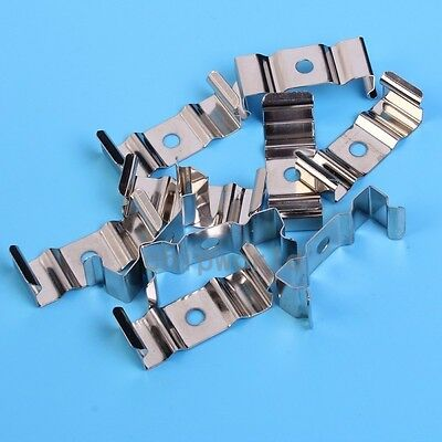 10pcs T8 LED Connector U Clip Tube Metal Base Holder Clip Stable For Fluorescent