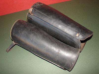 Antique Leather Puttees WW1 Shin Guards Cavalry