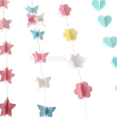 Garland Bunting Banner Heart Star Butterfly Hanging Wedding Xmas Party Decor