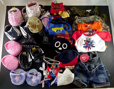 Build A Bear Workshop 28 Pc Lot of Clothing & Accessories Sports Boys Girls BABW
