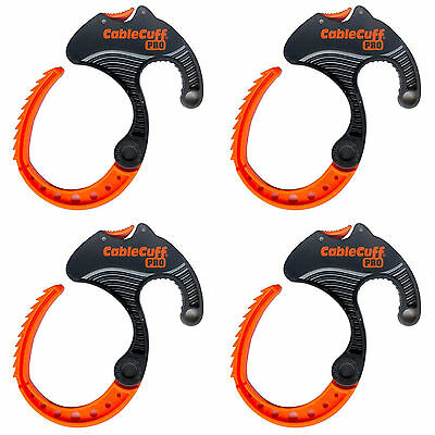 Cable Cuff PRO  MEDIUM - Cable Clamp - Adjustable, Reusable - 4 Pack