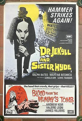 DR Jekyll And Sister Hyde UK Double Crown film poster Hammer Horror * Rare *