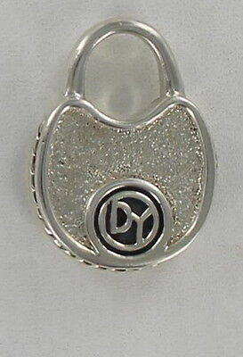 Authentic David Yurman Lock Pendant Sterling Silver for Necklace