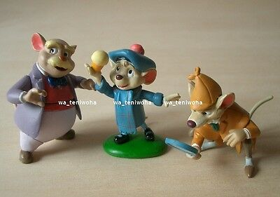 """New Full """"The Great Mouse Detective"""" Tiny! 3 Figures Disney Choco Egg Basil"""