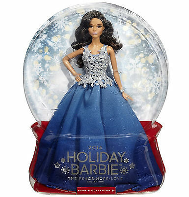 """2016 Holiday Barbie The Peace Hope Love Collection"" African American New"