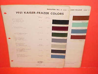 1951 Kaiser Special Deluxe Club Coupe Frazer Manhattan Convertible Paint Chips