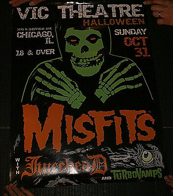 """The Misfits Halloween Chicago Il Vic Theater Offical Gig Poster 18 X 24"""" Rare!!"""