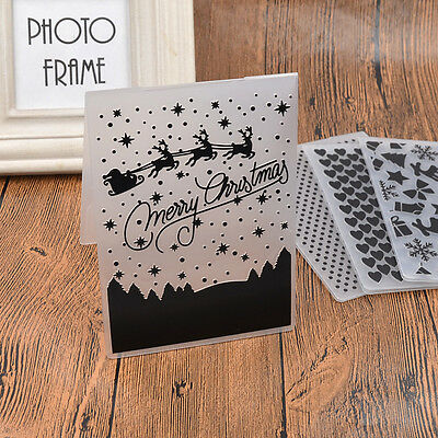 Christmas Dot Plastic Embossing Folder Template DIY Scrapbook Paper Card Decor