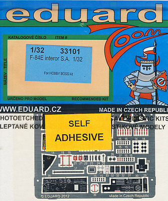 eduard F-84E interior self S.A. adhesive Etched parts 1:32 model kit set