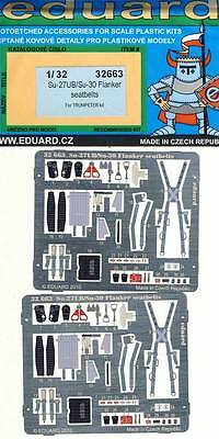 eduard Su-27UB/Su-30 Flanker seatbelts Seat belts Etched parts Edging kit 1:32