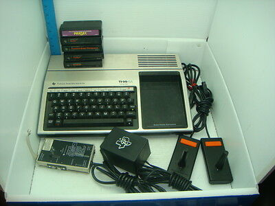 Vintage Texas Instruments Ti-99/4A Computer System With Games And Budget Planner