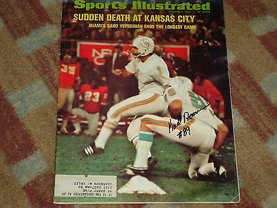Karl Noonan 1972 Miami Dolphins Signed 1972 Sports Illustrated  COA