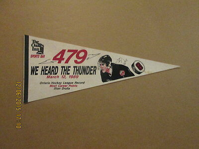 OHL We Heard The Thunder Stan Drulia 479 Points Pennant