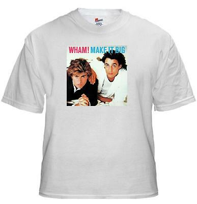Tee Shirt George Michael WHAM Make it Big adult unisex cotton t shirt