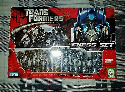 Transformers Chess Set Parker Brothers Complete 2007 Edition Complete