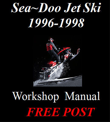 Sea Doo Seadoo Sea-Doo Jet Ski 1996 - 1998 Workshop Service Repair Manual On Cd