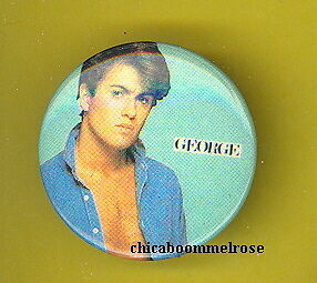 Wham 1985 uk pinback button badge GEORGE ALONE ww MM