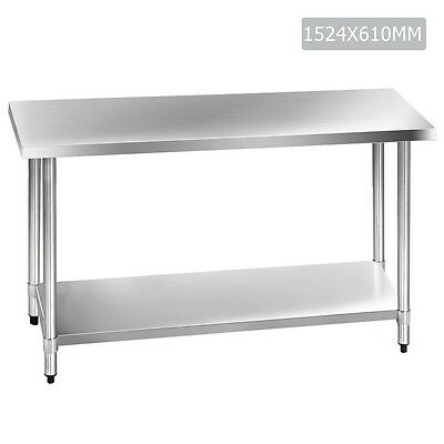 304 Stainless Steel Kitchen Work Bench Table 1.5m
